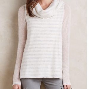 Anthropologie Moth Double Layer Striped Sweater